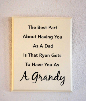 Grandpa Quotes From Granddaughter Custom grandpa sign - dad