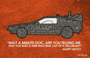 Back To The Future Quote Poster - 11 x 17. $18.00, via Etsy.