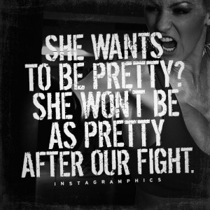 ... Wont Be Pretty After Our Fight MMA Quote graphic from Instagramphics