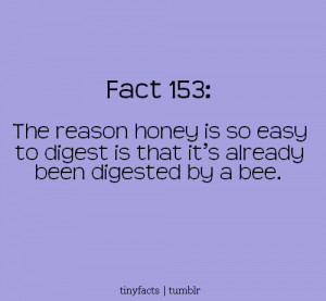 Fact Quote ~ The reason honey is so easy to digest is that it's ...