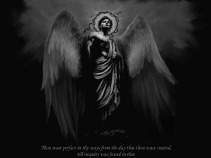 angels black and white quotes sketches lucifer 1280x1024 wallpaper ...