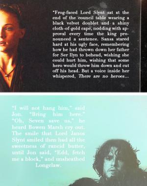 House Stark Sansa & Jon Quotes