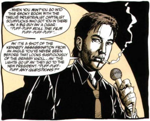 Bill Hicks en Preacher # 31. Dibujo: Steve Dillon.