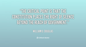 The critical point is that the Constitution places the right of ...