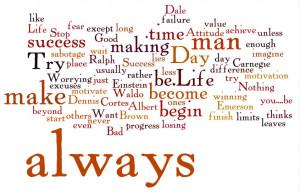 image caption: Stop making excuses & start making progress. What you ...