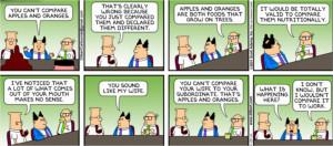 Dilbert - apples & organges