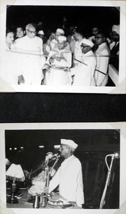 Lal Bahadur Shastri in Allahabad during inauguration of MNREC building ...