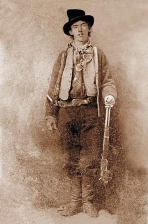 famous outlaws western framed photo 4x6 billy the kid famous outlaws ...