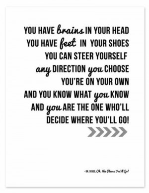 Dr.Seuss Quote Printable