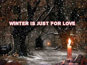 Winter love quotes background - HD Wallpapers