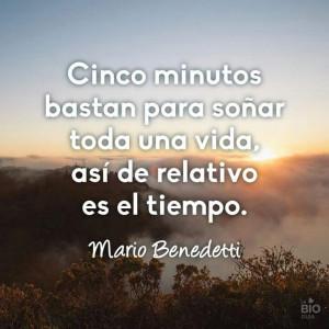 ... vida, así de relativo es el tiempo. Mario Benedetti. Quote. Words