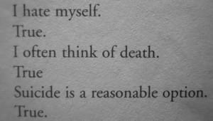 tumblr depressed sad suicidal suicide lonely quotes pain true alone ...