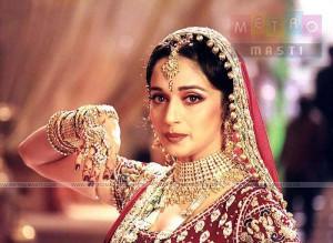 Madhuri Dixit Red Bridal