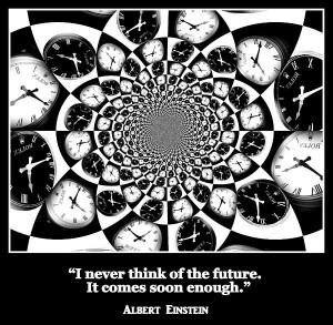 Albert Einstein Future Quote Print by Aurelio Zucco