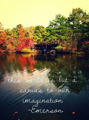 ... Emerson Nature ImaginationNature Imagine, Ralph Waldo Emerson Nature