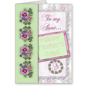 To My Aunt Happy Mother's Day Greeting Card