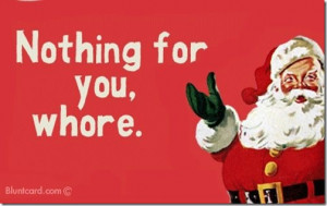 Ok, just kidding, but here are some funny Christmas cards for you guys ...