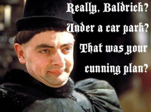 And here, just for fun, is Blackadder's take on the story.
