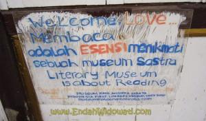 Membaca adalah esensi menikmati sebuah museum sastra'