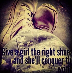 Give a girl the right shoes and she'll conquer the world