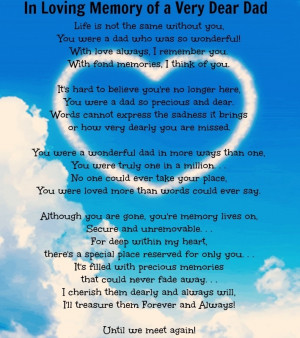 In Loving Memory of my Dad ♥