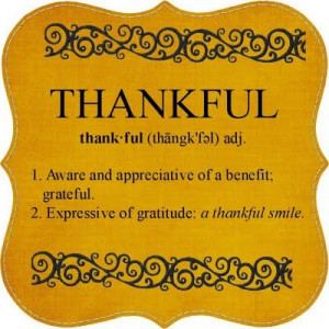 Learning to Always be Thankful