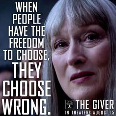 The Giver Choose Wrong People Quotes
