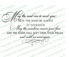 Beautiful Ready Made Wording Funeral Quotes : Irish Blessing Funeral ...