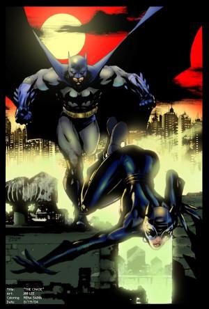 Batman And Catwoman Jim Lee