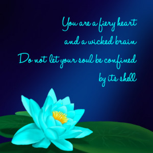 Blue Lily Quote by DeanGirl5581