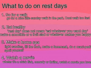 Exercise Quotes Rest Day Quotesgram