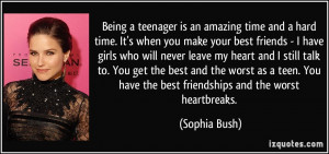 Being a teenager is an amazing time and a hard time. It's when you ...