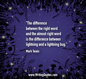 Mark Twain Quotes – Lightning Bug – Mark Twain Quotes On Writing