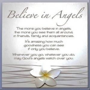 believe in angels..