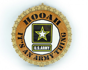 US ARMY HOOAH Its An Army Thing Plaque Laser Cut Color Center Wood ...