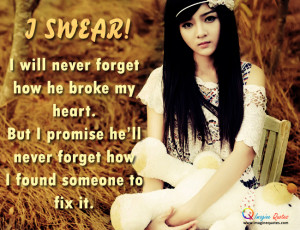 swear! I will never forget Alone Quotes Broken Heart Quotes