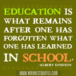 Education And school Quotes By