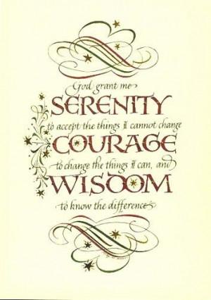 Serenity Prayer, This is my favorite