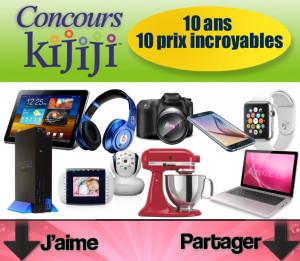 Concours Kijiji: Gagnez des prix incroyables chaque mois!   TONSITE.CA ...