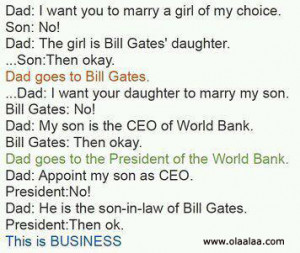 Father and son jokes-Funny Jokes-Bill Gates-Business