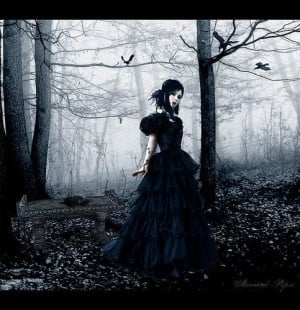 sad goth girl smithstaasister tags girl forest gothic tags girl forest ...