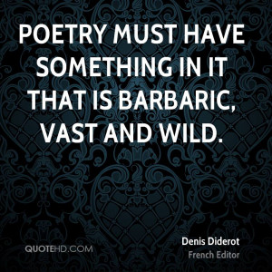 Denis Diderot Poetry Quotes