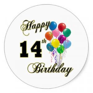 happy_14th_birthday_gifts_and_birthday_apparel_sticker ...