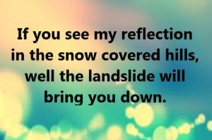 Stevie Nicks/Fleetwood Mac - Landslide - song lyrics, song quotes ...