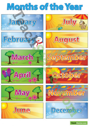 Teaching Months of the Year