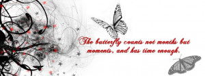 Beautiful Butterflies Quote Best Facebook Cover for Profile