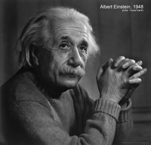 Famous Albert Einstein 1948 portrait by Yousuf Karsh