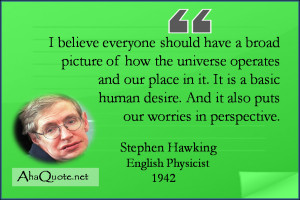 Stephen Hawking Universe Quotes