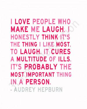 New Audrey Hepburn Quote Print in the Shop