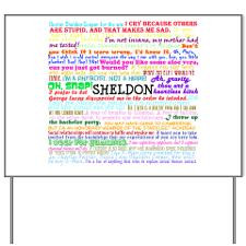Sheldon Cooper Quotes Yard Sign for